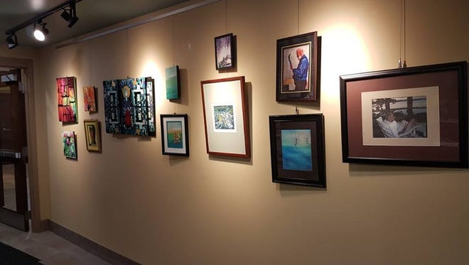 The Town Hall Library in North Lake will feature local artist and reverend Amy Petrie Shaw's artwork on its Art Gallery Wall through October.