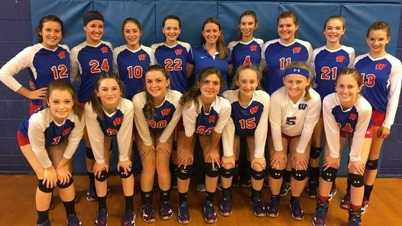 The West Henderson junior varsity volleyball team.