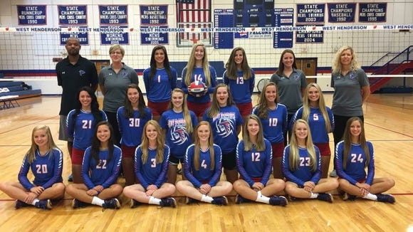 West Henderson's volleyball team.
