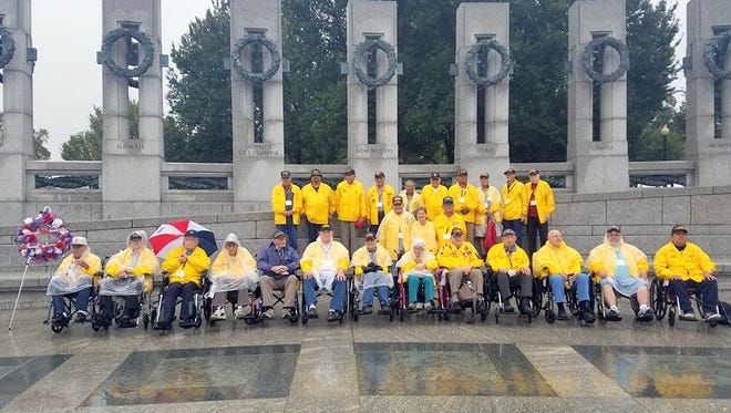 The HFSNM Veterans at the World War II Memorial in Washington, DC