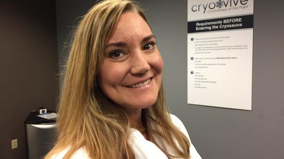 Melanie Ownley treats her MS with cryotherapy, an option