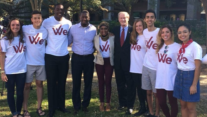 The Power of We hosted FSU's first Longest Table event, at which Tallahassee Mayor Andrew Gillum and university President John Thrasher spoke.