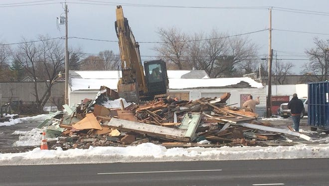 The former Jim's Restaurant building on Winton Road North was torn down just before Thanksgiving.