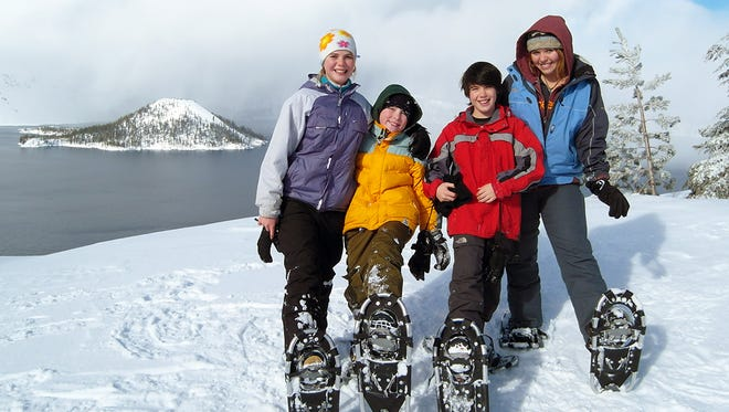 Ranger-guided snowshoe trips are offered at Crater Lake National Park free of charge this winter.