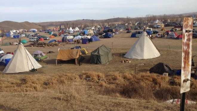 The scene at the camp: Thousands of protesters descended on Standing Rock to protest the Dakota Access pipeline. Memphian Mahal Burr was among them.