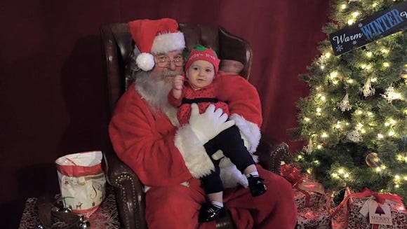 CiCi meeting Santa for the first time at Lights of