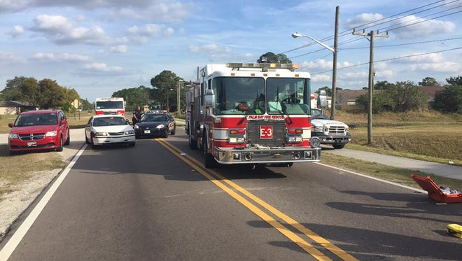Emerson Drive was shut down in both directions at Glencove Avenue in Palm Bay, after a teen was struck by a vehicle Wednesday afternoon.