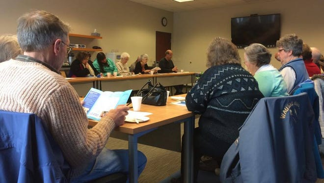 The Connections Place board members host a meeting to discuss active aging center.