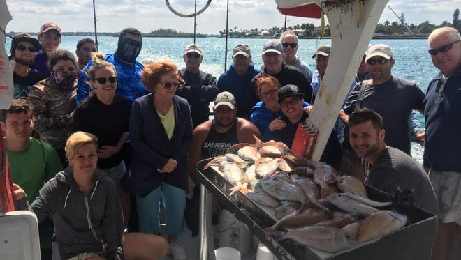 The party fishing aboard Lady Stuart party boat out of Hutchinson Island Marriott Marina in Stuart caught a load of lane snapper, triggerfish and porgies Thursday morning.