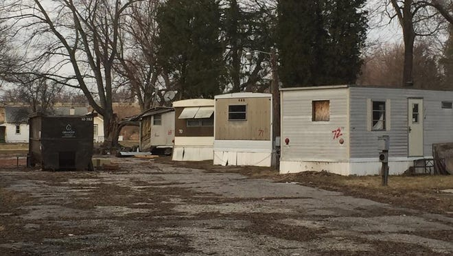 The condemned Life O'Riley mobile home park, 6726 S Washington Ave., is expected to get torn soon. Lansing Mayor Virg Bernero said Tuesday the park site has redevelopment potential.