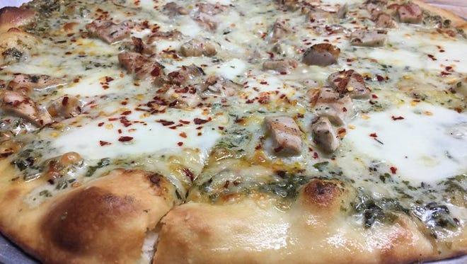 Pizza at Calderone Club, 8001 N. Port Washington Road in Fox Point.