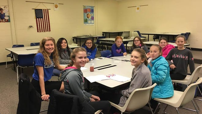 Croswell-Lexington senior Calli Townsend has led a bible study at Croswell-Lexington Middle School during her senior year.