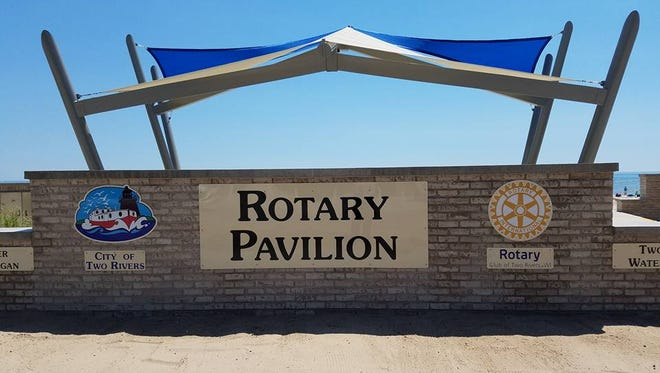 The Two Rivers Rotary Club donated more than $33,000 to the development of the Rotary Pavilion. The pavilion is on Neshotah Beach and has been used for early morning worship, yoga classes, picnic lunches with grandparents and grandchildren, and provides a space for wedding ceremonies. A variety of bands have provided entertainment to guests of all ages enjoying the shores of Lake Michigan.