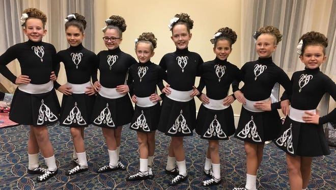 "The ""Little Eight,"" from the McAleer School of Irish Dance with locations in Claymont and Yorklyn, is one of teams competing in the World Championships in Dublin."