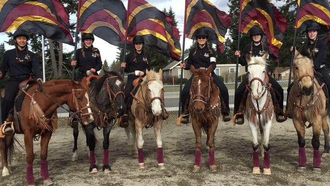 South Kitsap Equestrian Drill team qualified for the state championships next month. They are, left to right, Alea Chatman, Lillian Taylor, Carley Stratton, Shawna Hettick, Kallie Daviscourt and Jacqualyn Fair.