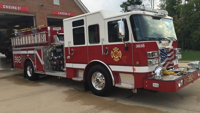 A fire truck at Fishers Fire Department