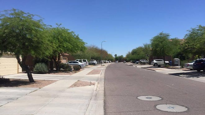 The 7000 block of West Alta Vista Road in Phoenix, where the shooting took place.