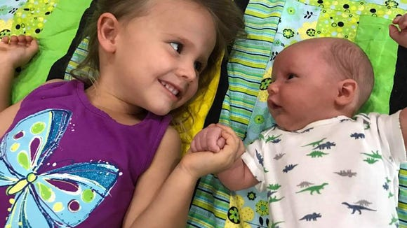 Billie Grace is 3 years old now and baby Owen's big