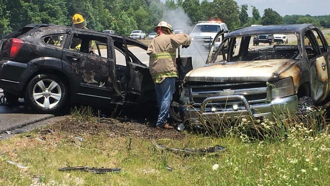 Several people were injured in a wreck on Dover Road near Oakwood Road around noon Saturday.