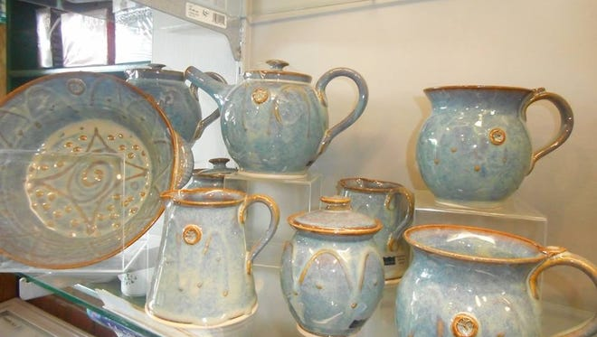 Pottery at the Irish Rose gift shop