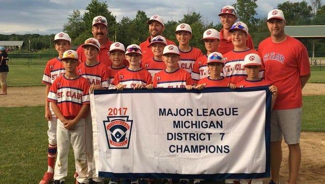 The St. Clair 12U little league team.