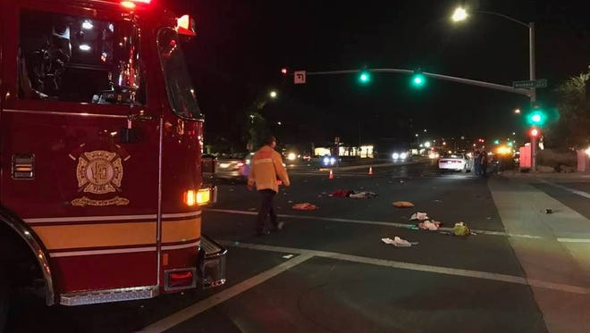 A two Visalia residents were taken to the hospital after being hit while crossing the street on Tuesday night.