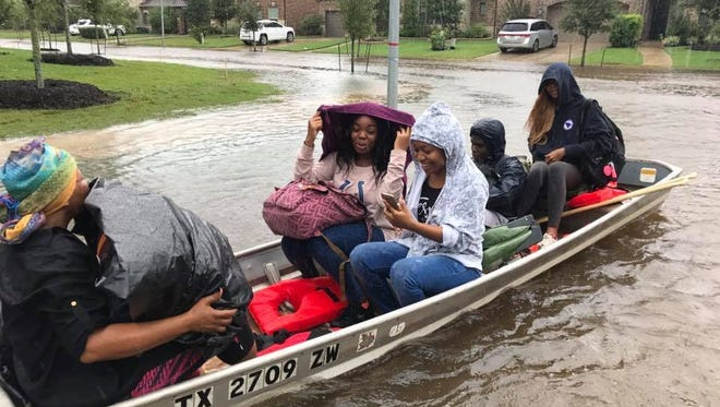 Katherine Smith of Smith's Gardentown, whose sons traveled to the Beaumont and Houston area to aid in hurricane rescue efforts, announced a portion of the nursery's Labor Day weekend sales will go to the Salvation Army. Her sons used a Smith's boat in the rescue efforts.