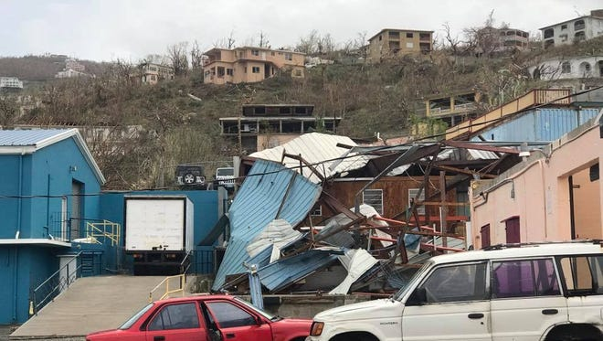 Hurricane Irma ravaged parts of the U.S. Virgin Islands. This image shows St. Thomas.