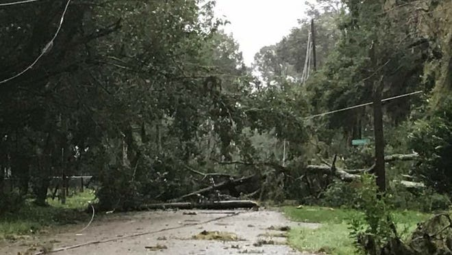 Damage from Tropical Storm Irma