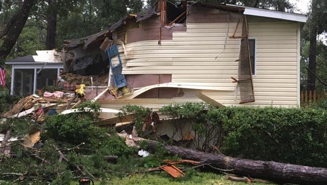 Much of Meredith Hunter's mother's house was in shambles following Irma.