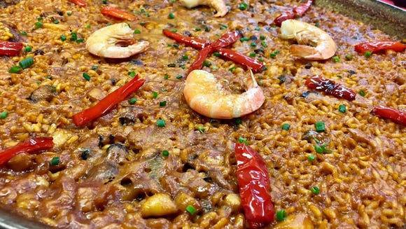 Seafood Paella from Abanico Tapas Bar and Music restaurant
