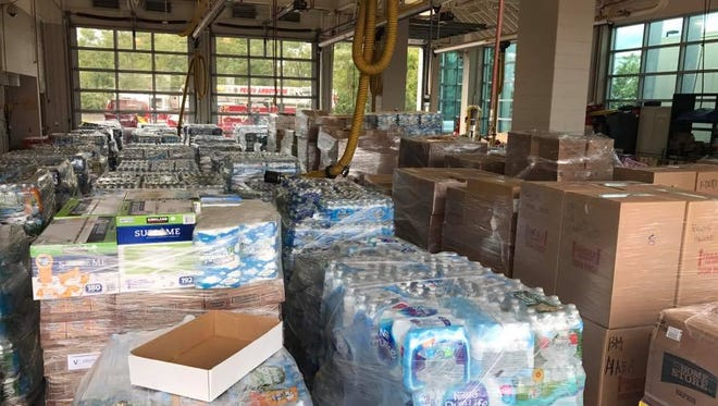 Donations collected in Perth Amboy for the people of Puerto Rico.