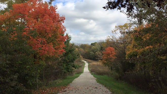 A trail at F.W. Kent County Park in Oxford on Oct. 17, 2016.