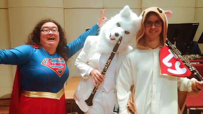 From left, Melody Lindsay, Sheri Rolf and Chris Mothersole participate in last year's Halloween Spooktacular.