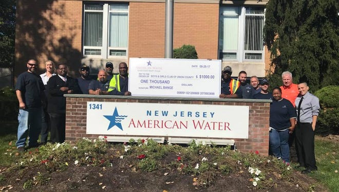 Boys & Girls Clubs of Union County received a donation from New Jersey American Water Field Operations BAPP Team to support programs at its Plainfield Club.