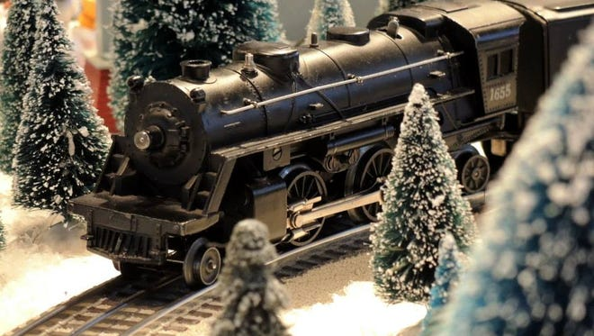 A locomotive featured in Behringer-Crawford Museum's holiday train display.