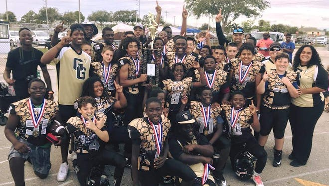 The Golden Gate Youth Titans won the U12 division of the Southwest Florida Youth Football League with a pair of victories over the weekend. The Titans travel to Lakeland for the state tournament this weekend, beginning Friday with a game against a team from Bradenton.