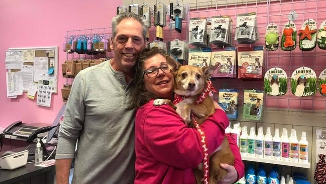 Frank and Barbara Buonvicino, owners of Woof Gang Bakery & Grooming in Chester, have hosted many pet adoptions for Eleventh Hour Rescue since their Grand Opening in September 2017.