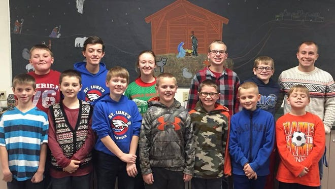 Pictured are the Christmas Idol Junior winners from St. Luke's of Oakfield. They will receive $500 from Fond du Lac Credit Union.