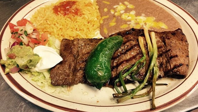 The carne asada plate at Yaya's Mexican Bar and Grill in Surprise.