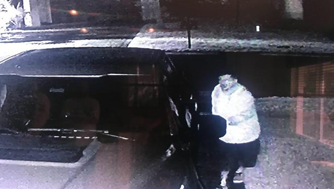 A suspect in a series of auto burglaries in Martin's Crossing was caught on a homeowner's surveillance system.