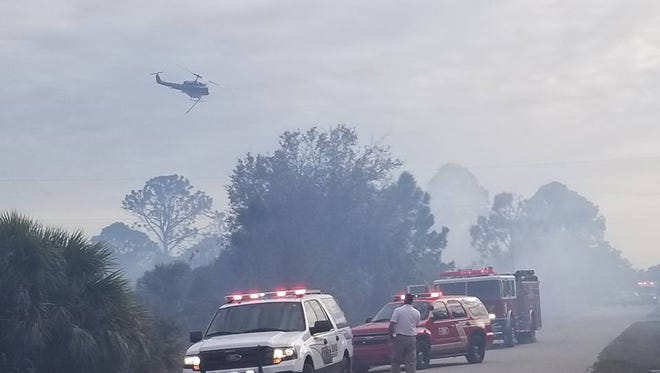 A series of possibly suspicious fires were fought Sunday by Charlotte County fire crews as well as mutual aid assistance from fire departments in Lee County.