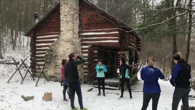 A handful of Franklin County runners enjoyed a group trail run in the snow last weekend.