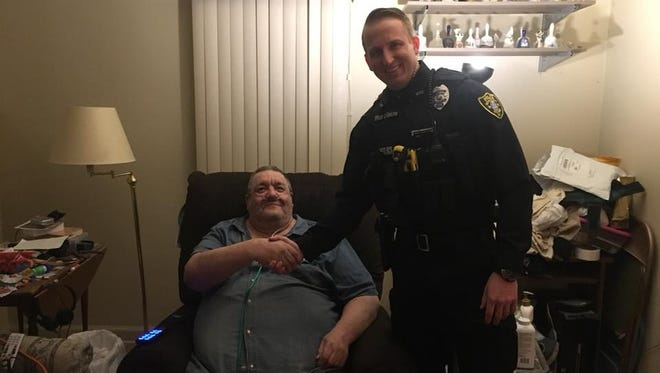 Wausau police Officer Jordan Gaiche used Facebook to raise money for a new lift chair for Ron Barwick.