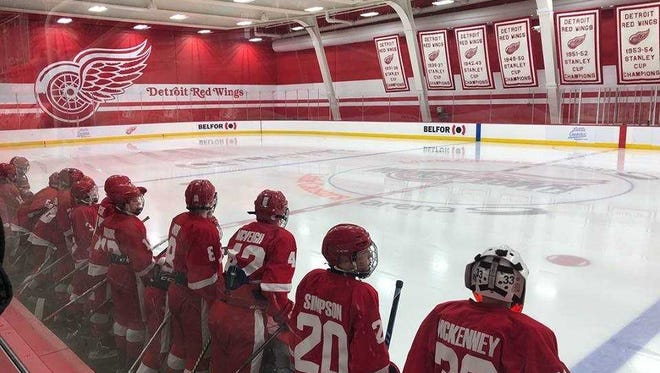The Port Huron Flags Bantam A hockey team was in action over the weekend at the Belfor Training Center at Little Caesars Arena.