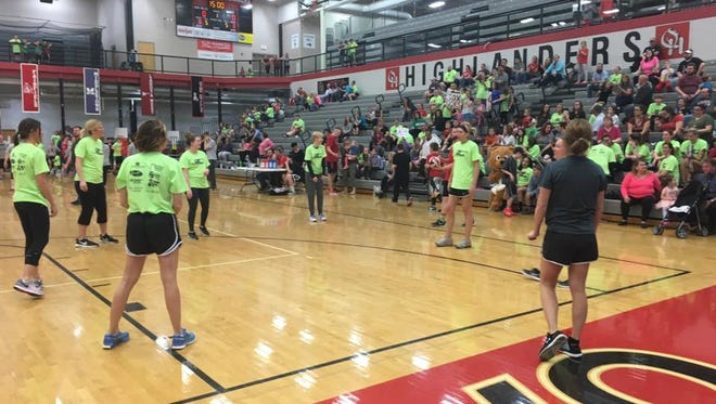 Oak Hills Local School District staff compete in the district's annual One Hope One Heart volleyball fundraiser. The event will be March 23.