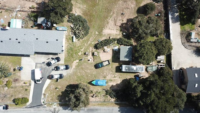 This is an aerial shot of the home where Sam Bahri, 53, allegedly stabbed a Monterey County Sheriff's deputy Tuesday afternoon.