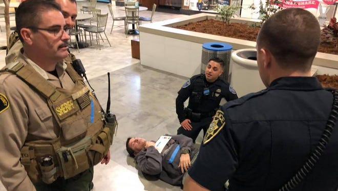 Salinas police and Monterey County Sheriff's deputies train for a mass-shooting incident.