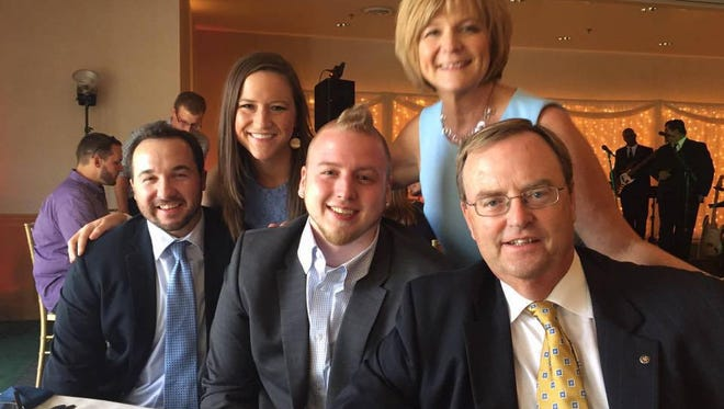 Pictured left to right are Ryan Congrove, Stephanie Congrove, Eric Wigton, Valerie Wigton and Dan Wigton.