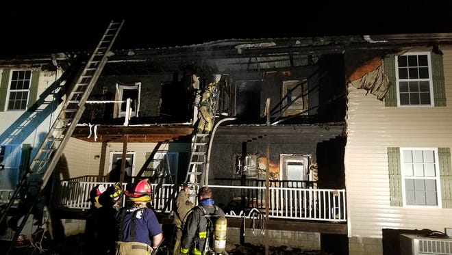 Firefighters on scene overnight at the Copper Ridge Apartments in Westmoreland.